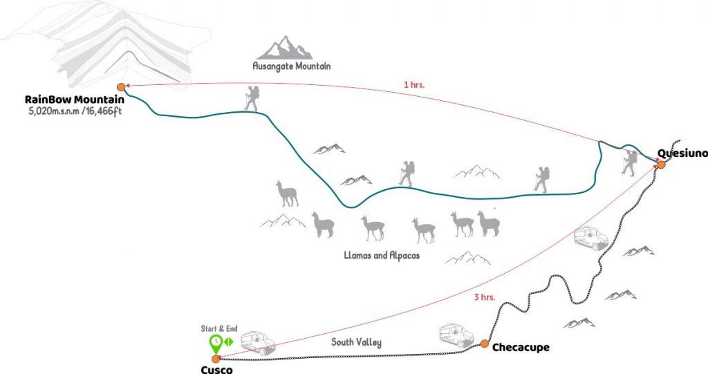 Rainbow Mountain Map