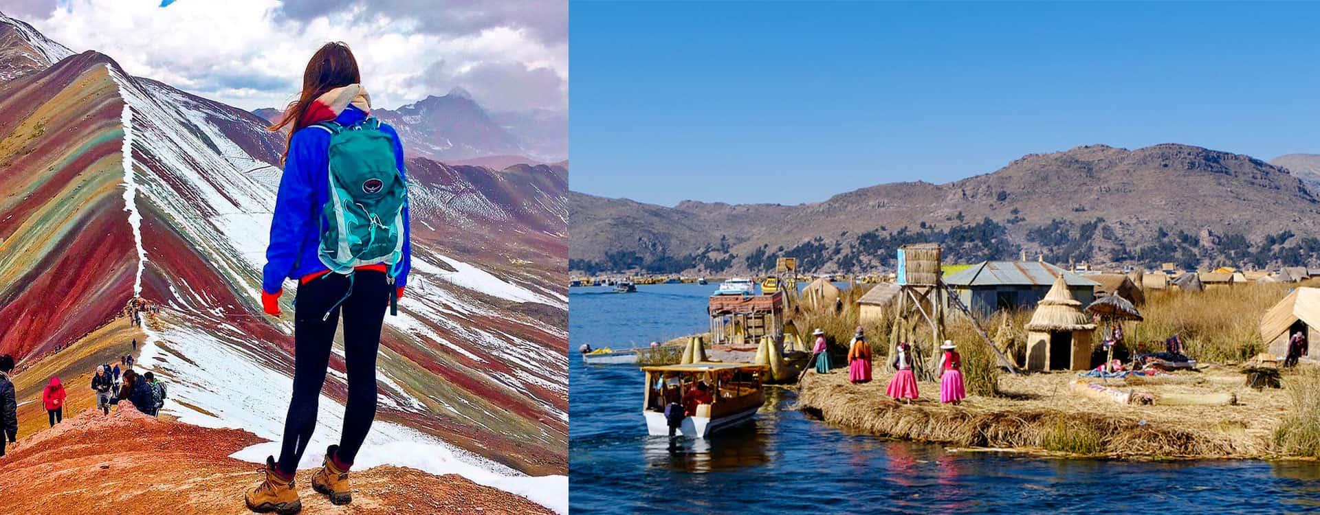 Rainbow Mountain trek ending in Puno